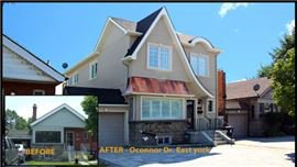 Home renovations by Modular Home Additions before and after